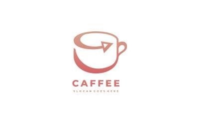 Coffee Cup Arrow Logo Template