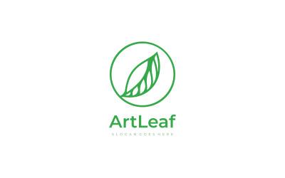 Leaf inside Circle Logo Template