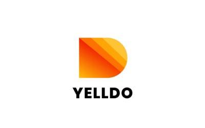 Letter D - Yellow Gradient Logo
