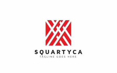 Square Technology Line Logo Template