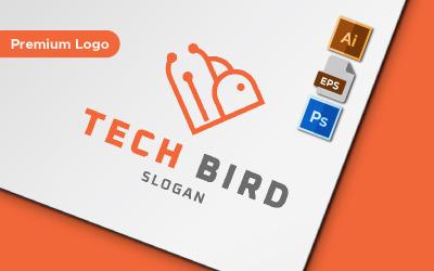 Tech Bird Minimalist Logo Template