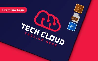 Tech Cloud Minimalist Logo Template