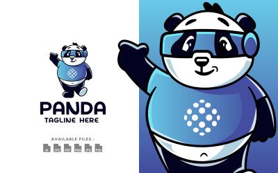 Techy Little Panda Character Logo