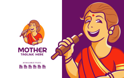 Traditional Mother Cooking Logo