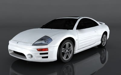 2003 Mitsubishi Eclipse GT modelo 3d