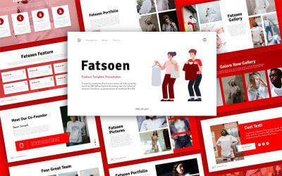 Fatsoen Fashion Presentation PowerPoint Template