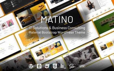 Matino - ІТ-рішення та матеріал для бізнес-консалтингу WordPress тема
