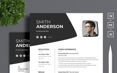 Smith Anderson Resume CV Template