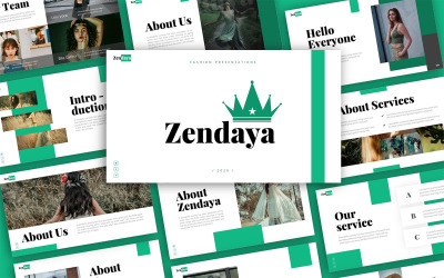Zendaya Fashion Presentation PowerPoint Template