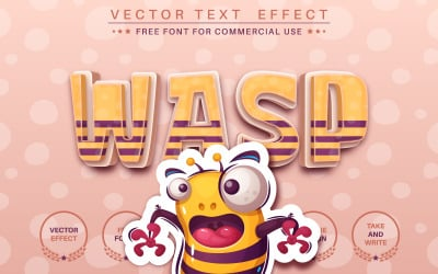 Crazy Wasp - Editable Text Effect, Font Style, Graphics Style Illustration