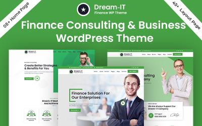 DreamIT Üzleti és pénzügyi tanácsadás WordPress téma