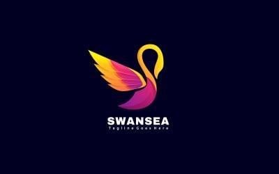 Swan Gradient Logo Template Style