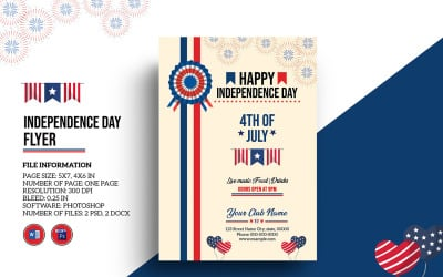 Us Independence Day Flyer Corporate Identity Template