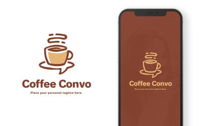 Coffee Convo Podcast Logo Template