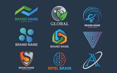 Creative Unique Business Logo Design Set