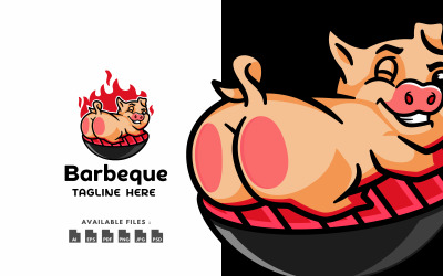 Fun Barbeque Character Logo