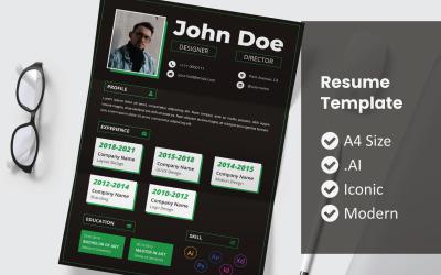John Vol 23 Printable Resume Template