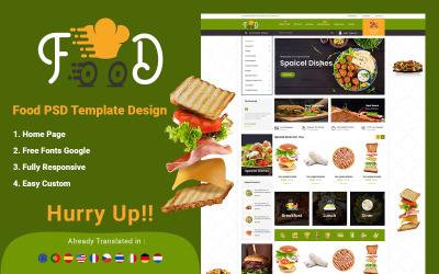 食品 - 在线订购电子商务 PSD 模板
