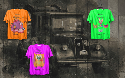 T-shirt Display Showcase Mockup 01 - PSD Template
