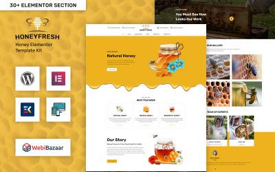 Honeyfresh - Honey Farm & Production Elementor WordPress sablon