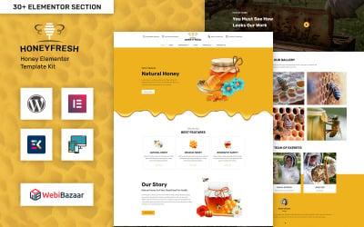 Honeyfresh - Медова ферма та виробничий елемент Elementor WordPress шаблон