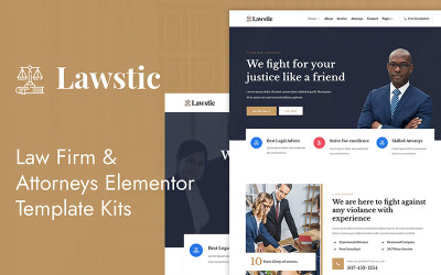 Lawstic- Lawyer Attorney Elementor Template Kit