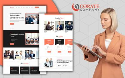 Modelo HTML5 da página de destino corporativa responsiva da Corate