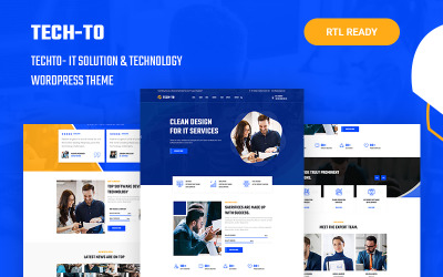 Techto - IT 解决方案和技术响应 WordPress 主题