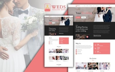 Weds Wedding Planning Agency Landing Page HTML5 Template