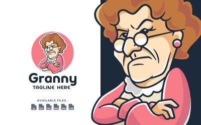Angry Grandmother Character Logo