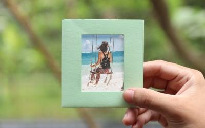 Light Green Photo Frame Product Mockup