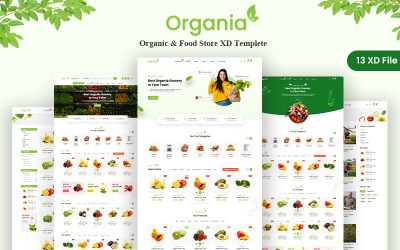 Organia - Organic & Food Store XD Templete