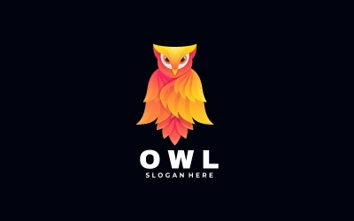 Owl Bird Gradient Logo Style