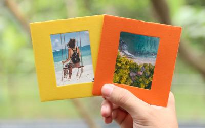 Yellow And Orange Photo Frame Product Mockup