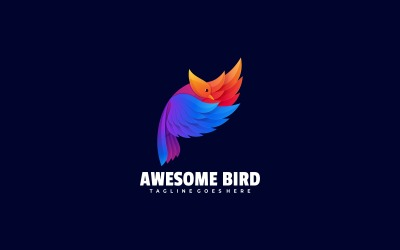 Bird Colorful Logo Template
