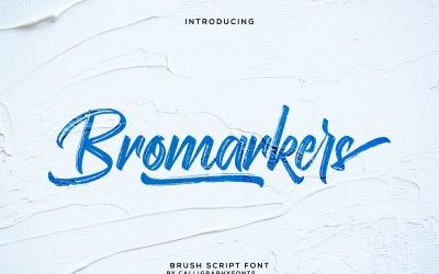 Bromarkers Unique Handmade Brush Font