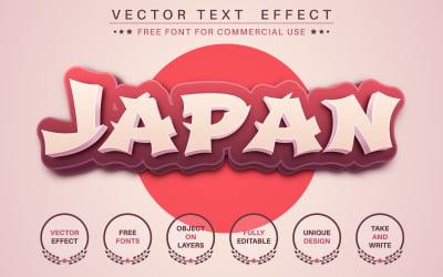 Japan - Editable Text Effect, Font Style, Graphics Illustration