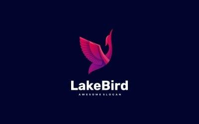 Lake Bird Gradient Logo Style