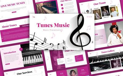 Modèles PowerPoint de présentation de musique Tunes