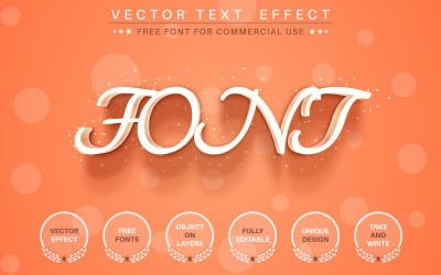 Orange - Editable Text Effect, Font Style, Graphics Illustration