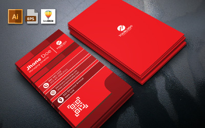 Portrait Business Card Template Vol 01 - Corporate Identity Template