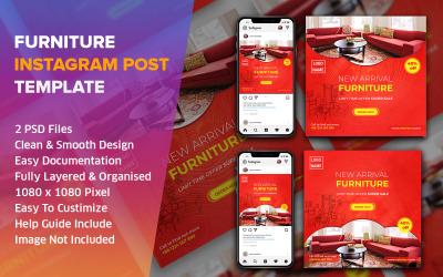 Furniture Instagram Social Media Post Design