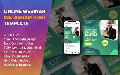 Webinar Online Instagram Social Media Post Design