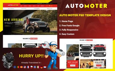 Auto Moter - Autoverhuurservice PSD-sjabloon