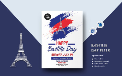 Bastille Day Flyer Corporate Identity Template