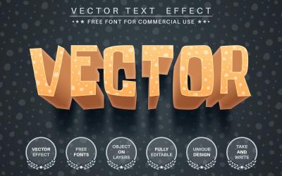 3D Crazy - Efecto de texto editable, estilo de fuente, ilustración gráfica