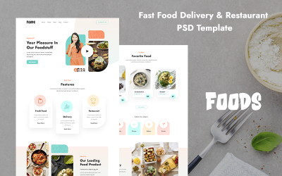 Fast Food Delivery Restaurant PSD-mall