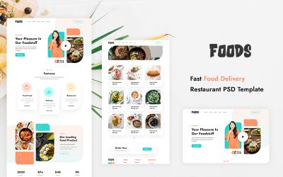 Fast Food Teslim Restoran PSD Şablonu