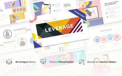 Leverage - Color Geometry Google Slides Template