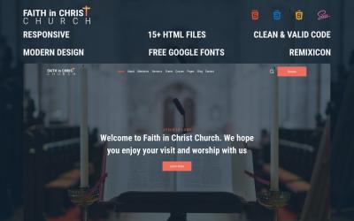 信仰基督教会 - 免费现代基督教会 HTML 网站模板